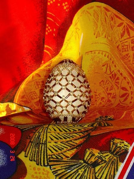 Яйцо в бисере мастер класс подробно #10